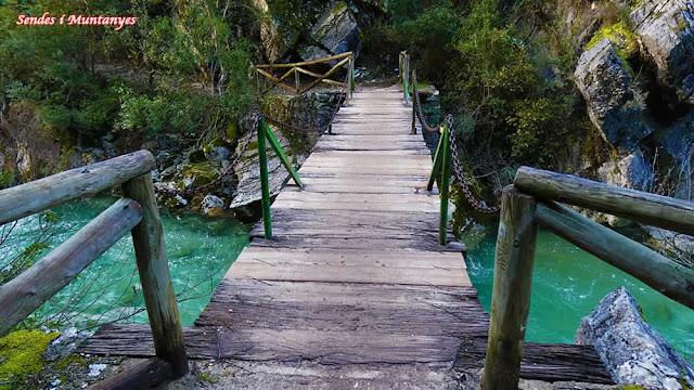Puente cerrada Elías, río Borosa, Pontones, Sierra de Cazorla, Jaén, Andalucía