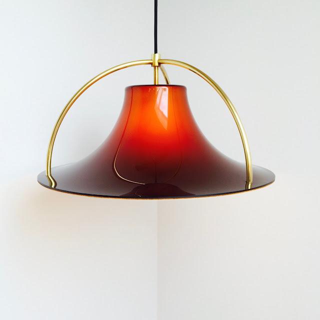 vintage, candeeiro, design, dinamarquês, 1977, Jo Hammerborg, Fog & Morup