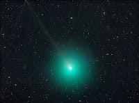 Kometa 46P/Wirtanen, zdjęcie z 01.12.2018 r. Credit: 46p 01.12.2018 - Michael Jäger. Jauerling, Austria 8/2.0 RASA@Cmos, eksp. RGB 300/300/300 sek., L - 20x90 sek. Suma łączna 45 minut.