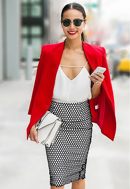 bright red blazer :  26 Images of Inspiration: Imperial Red 07-01-2016 {Cool Chic Style Fashion}