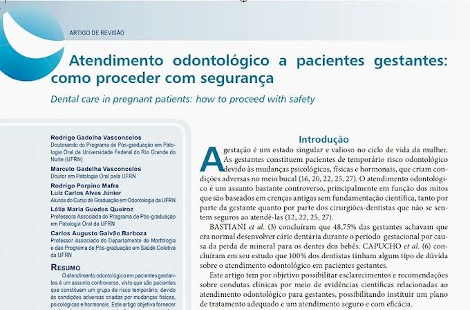 PDF: Atendimento odontológico a pacientes gestantes: como proceder com segurança