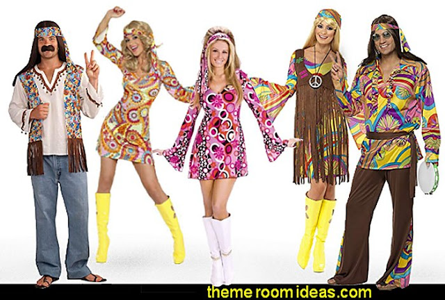 Retro 60s Groovy 70s  Psychedelic hippie Costumes  Groovy Funky Retro Bedrooms - 60s style theme decorating -  70s theme decorating - 70's Theme Decor - Funky Flower Power Bedrooms -  70s theme bedroom decorating - Psychedelic  Tie Dye Hippie Hippy style flower power era - Retro groovy peace sign decor - hippie decor