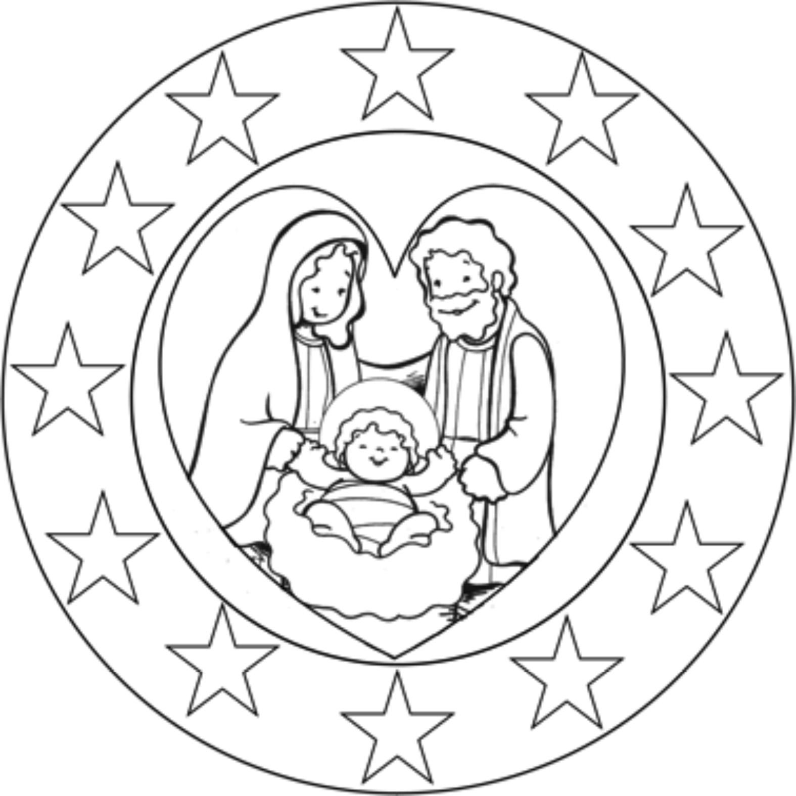 Educar Con Jesus Mandalas Navidenas