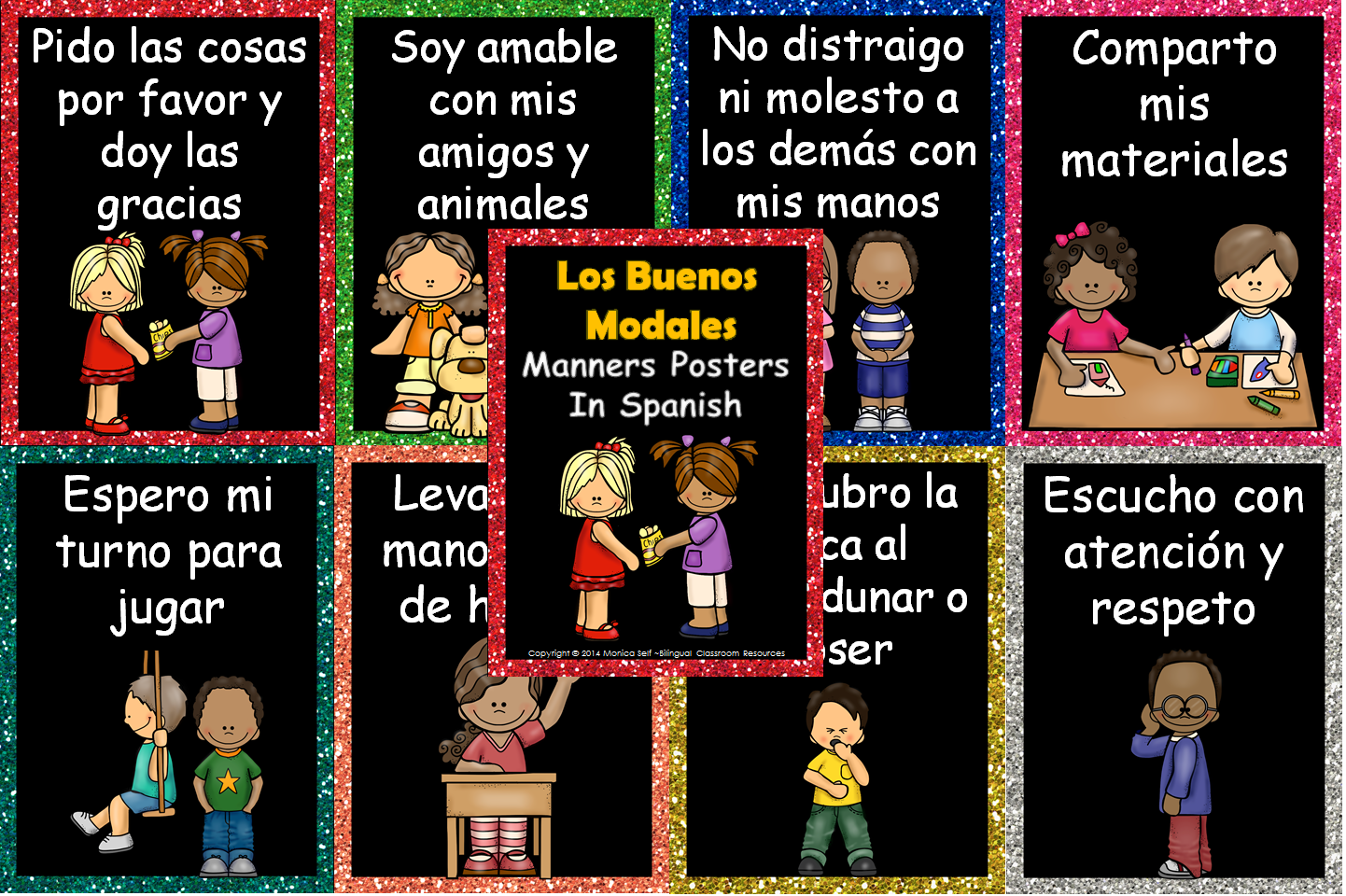 http://www.teacherspayteachers.com/Product/Los-Buenos-Modales-Manners-In-Spanish-1251048