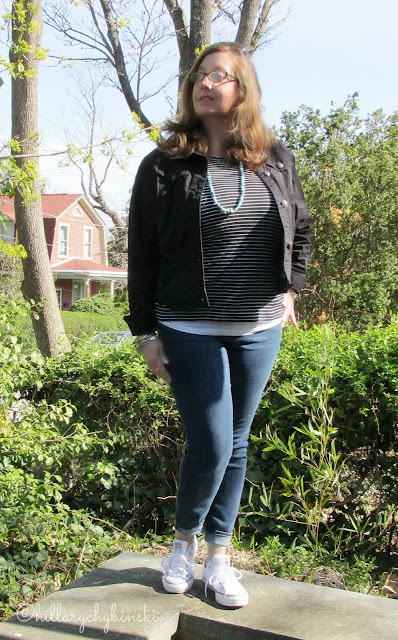 Aventrua Clothing Redford Jacket Styled With a t-shirt and Jeans