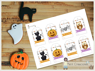 Gift tags HALLOWEEN, tags printable, DIY, Halloween , gift idea , printable tags, printable gift tags, party idea