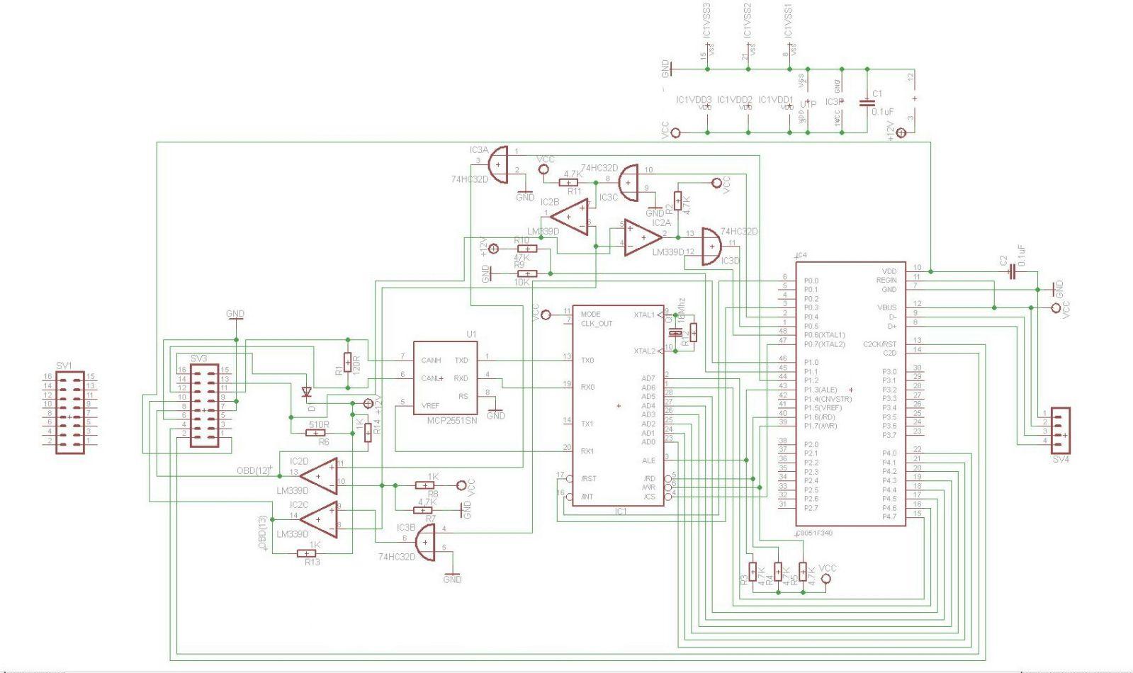 MPPS V18 PCB Schematics   MPPS V18 EU clone interface