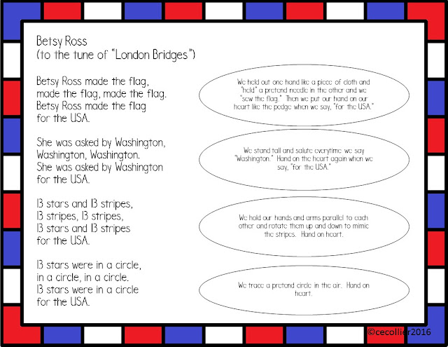 TPT FREEBIE for Betsy Ross.  Ideas with poetry, writing, and books about this famous American.