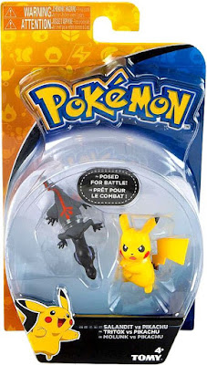 Salandit ヤトウモリ figure in Tomy US Pokemon Action Pose Figures set Salandit vs Pikachu