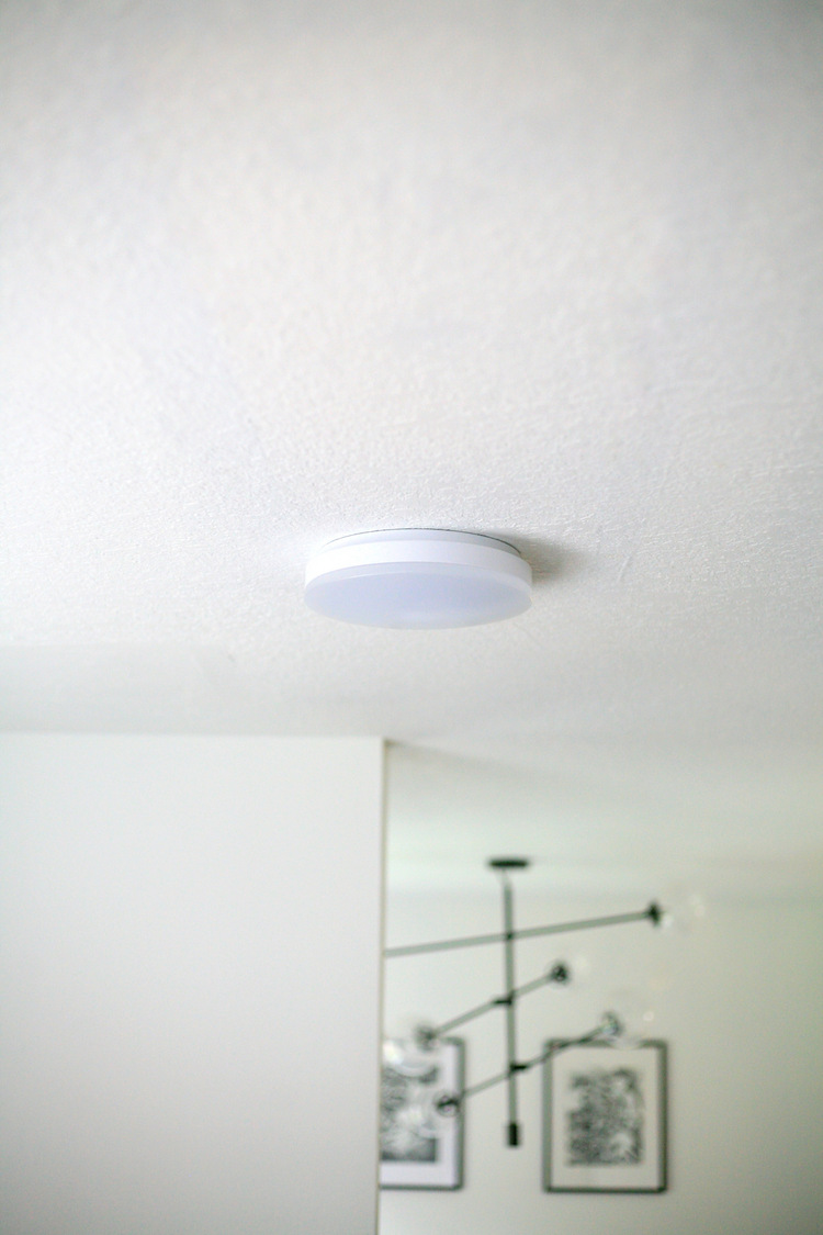 How to replace a fluorescent light with an LED flush mount - kitchen ...
