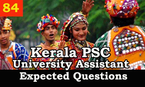Kerala PSC Model Questions for University Assistant - 84