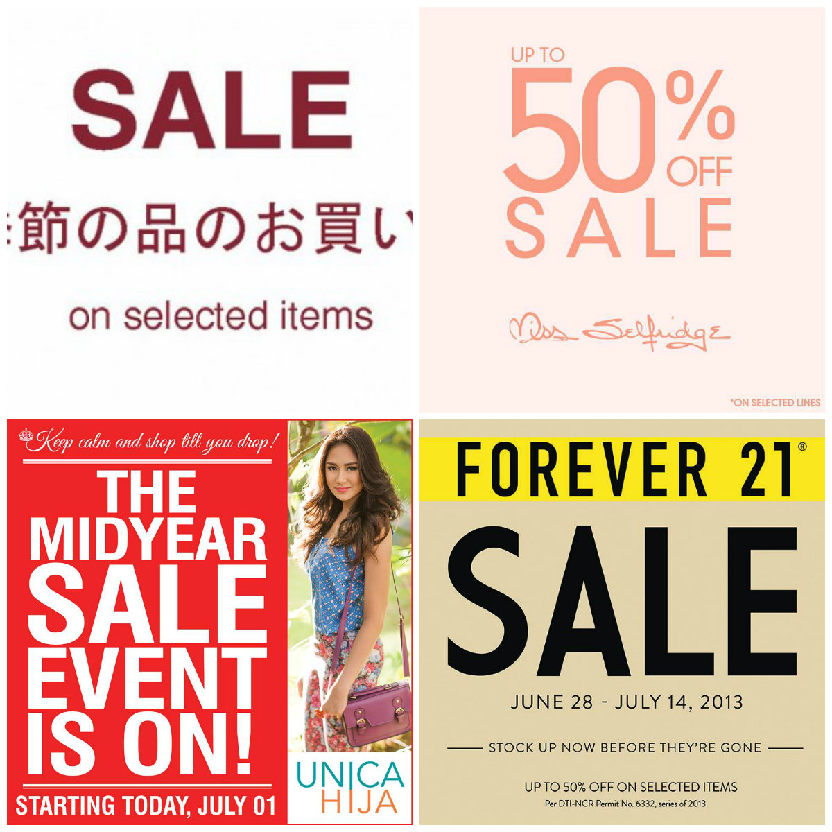 91aca313c7 To make it easier for my dear shopaholic friends and readers (if there s  any) here s a compiled list shops on sale that you could and should check  out  P