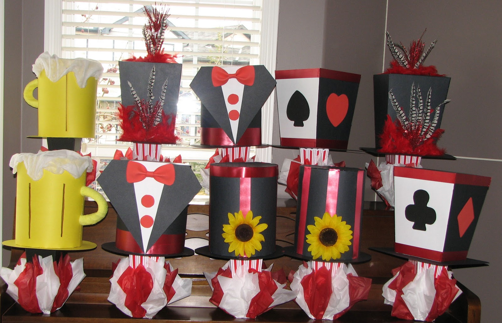 Casino party props decorations