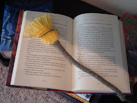 Cute little broomstick bookmark, reminiscent of our dear Harry Potter's wizarding world.
