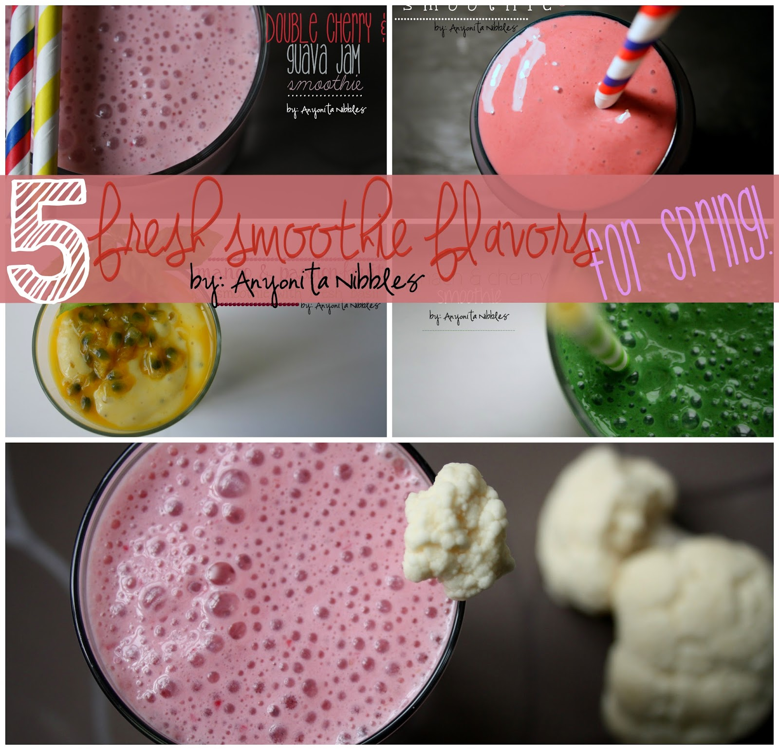 Here are five unusual smoothie combinations that all sound amazing! Healthy and sugarfree!