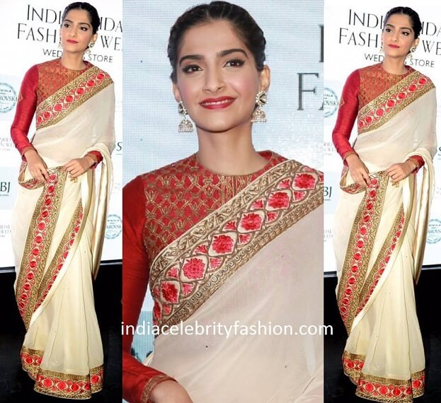 Sonam Kapoor in Narendra kumar Ahmed Saree