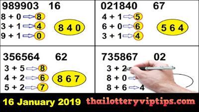 Thai lottery 3up Set Trick  VIP free numbers 16 January 2019