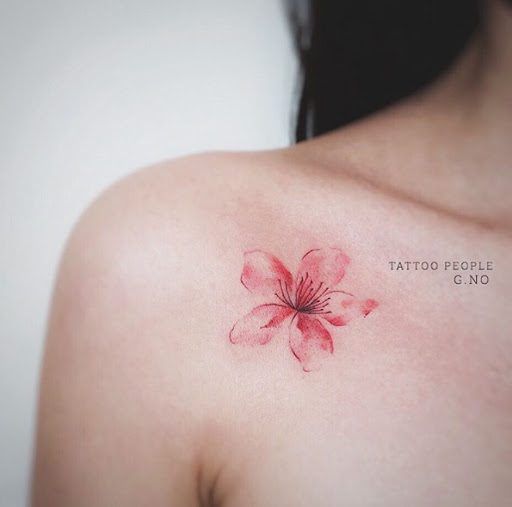 Este ombro único em flor
