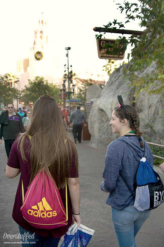 String backpacks are the perfect type of bag for your kids to wear while on a Disney Trip.