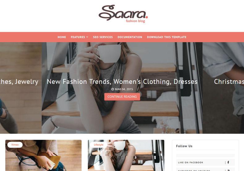 Saara Blogger Template