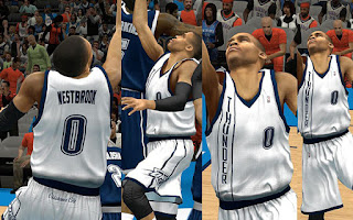 NBA 2K13 OKC Thunder Fictional Alternate Home Jersey Patch