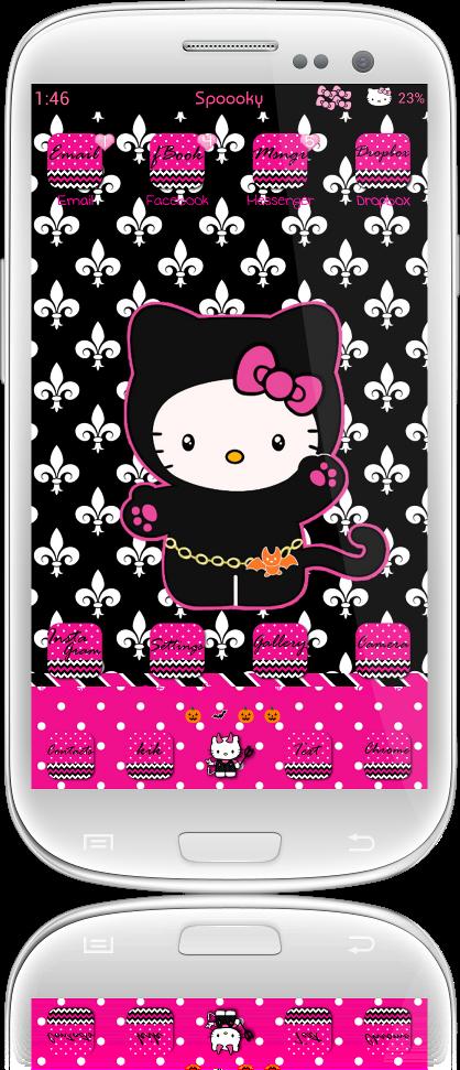 Pretty Droid Themes Spooky Hello Kitty Theme For Go