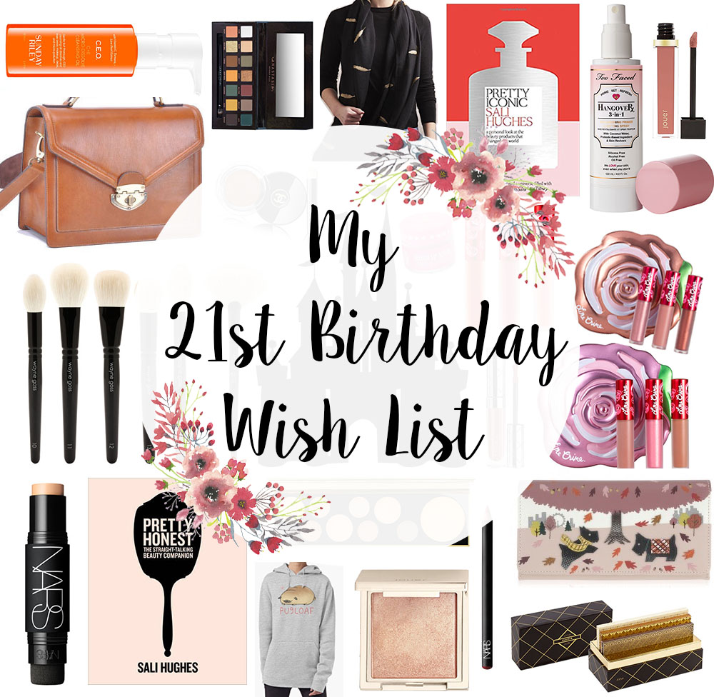 birthday wish list My 21st Birthday Wish List | Modish Ramblings birthday wish list