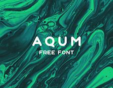 Aqum - free font