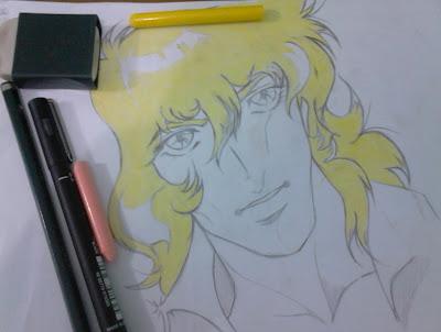 Versailles no Bara desenho mangá acabamento