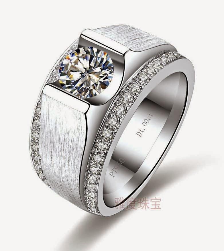 Expensive Mens Wedding Rings Round Diamond Design