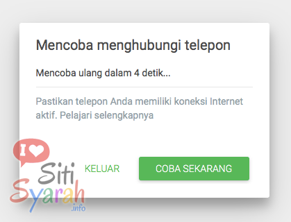 Kekurangan Whatsapp Web di PC