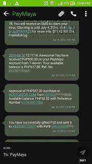 PayMaya - Received Texts | Geeky Juan