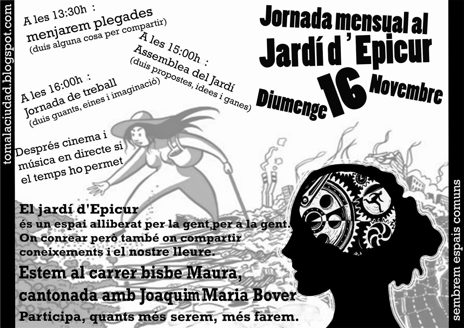 Jornada mensual al Jardí d'Epícur (16-11-14)