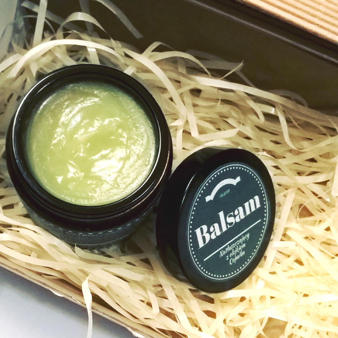 Balsam na łuszczycę z olejem tamanu, masłem aloesowym i olejem konopnym, copaiba