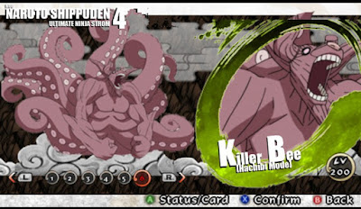 Naruto Shippuden : Ultimate Ninja Impact MOD Texture Killer Bee 8 Tail [Hachibi Mode] For PPSSPP Terbaru