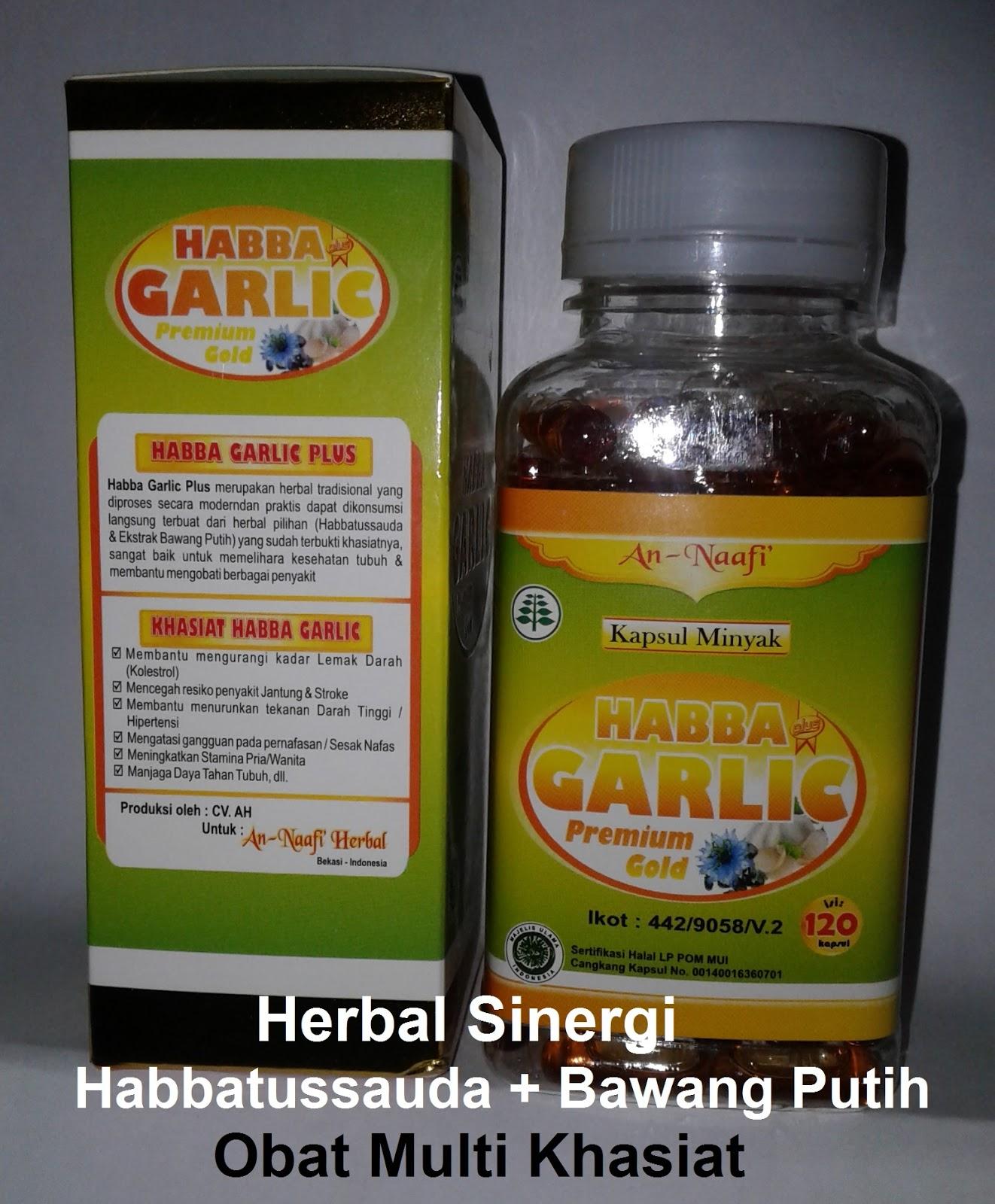 jual manfaat kapsul Habbat garlic oil Asli khasiat bawang ...