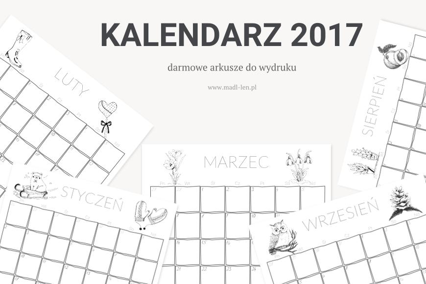 Kalendarz/planner 2017 do pobrania za darmo!