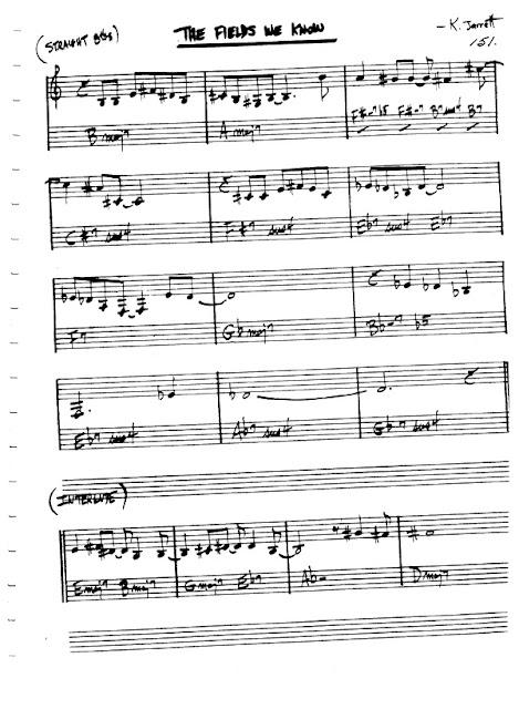 Partitura Violín Keith Jarrett