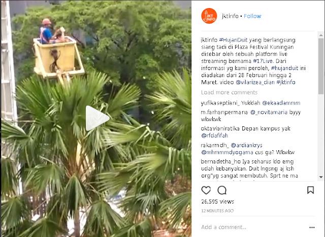 Video Hujan Uang di Kuningan Jakarta, Netizen Sebut ini Ulah Bu Dendy