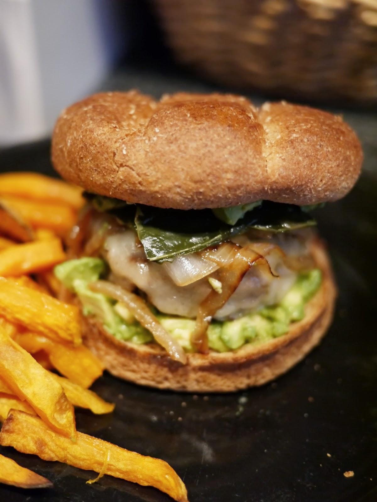 Poblano Monterey Burger The Tasteful Me