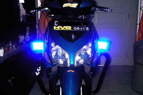 Gambar lampu strobo motor