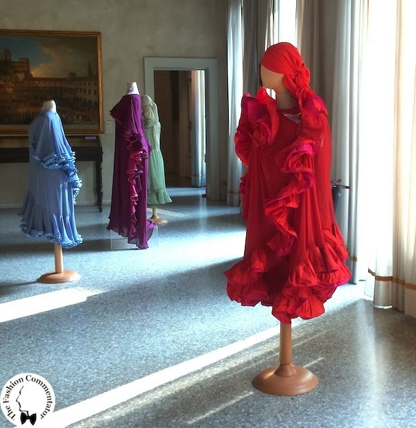 Valentina Cortese - Mostra Milano - First room dedicated to Roberto Capucci's dresses