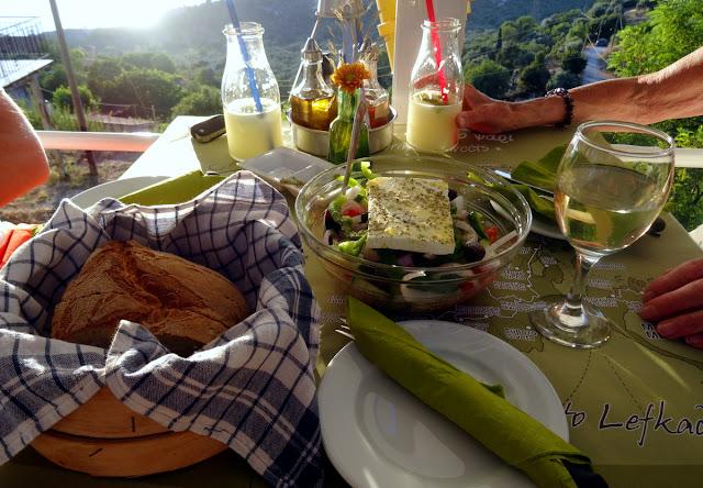 Greek Salad Bread Lefkatas Athani