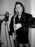 Volker Kuinke et sa flûte basse / photo : Doris Packbiers
