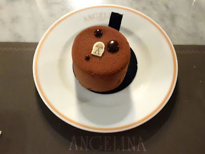 Tarte tout chocolat at Angelina Capitol Piazza