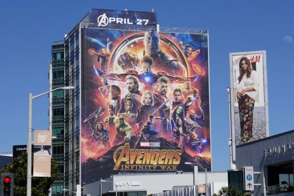 Avengers Infinity War movie billboard