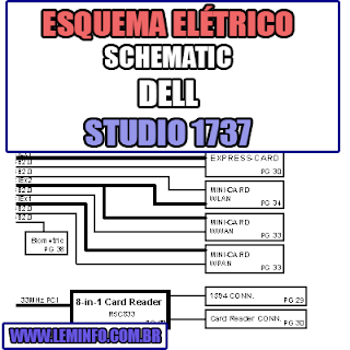 Esquema Elétrico DELL Studio 1737 Laptop / Notebook  Manual de Serviço - Schematic Service Manual