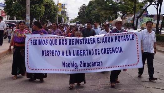 Protesta contra la Intolerancia religiosa en Chiapas