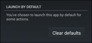 إزالة الاعدادات الافتراضية المسجلة عن طريق Launcher