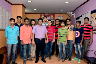 Students group Photo with Director- jharkhand